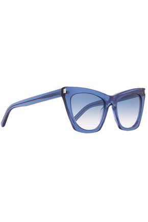 SAINT LAURENT Kate cat-eye acetate sunglasses