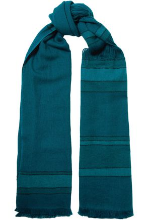 MELT Lalita fringed striped wool scarf