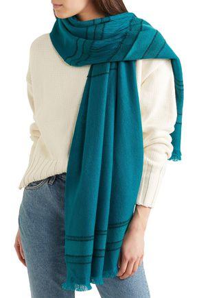 MELT Lalita fringed striped wool scarf