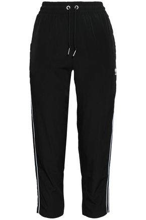 ADIDAS ORIGINALS Cropped crepe track pants