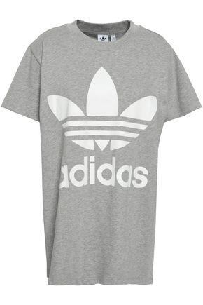 ADIDAS ORIGINALS プリント コットンジャージー Tシャツ