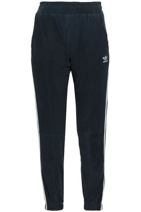 ADIDAS ORIGINALS Striped suede track pants