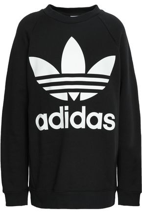 ADIDAS ORIGINALS Logo-print French cotton-terry sweatshirt