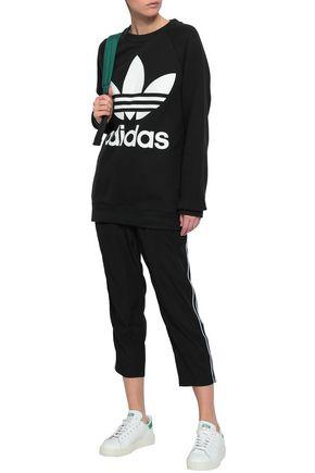 ADIDAS ORIGINALS Logo-print French cotton-terry sweatshirt