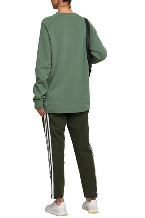 ADIDAS ORIGINALS Printed French cotton-terry sweatshirt