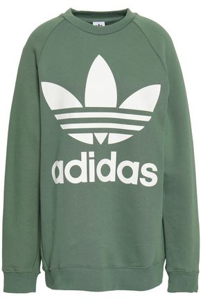 ADIDAS ORIGINALS Printed French cotton-terry sweatshirt