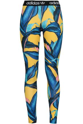 ADIDAS ORIGINALS Printed stretch-jersey leggings