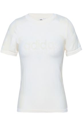 ADIDAS ORIGINALS Jacquard-knit T-shirt