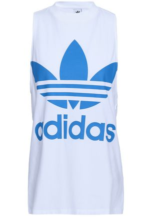 ADIDAS ORIGINALS Printed cotton-blend jersey tank