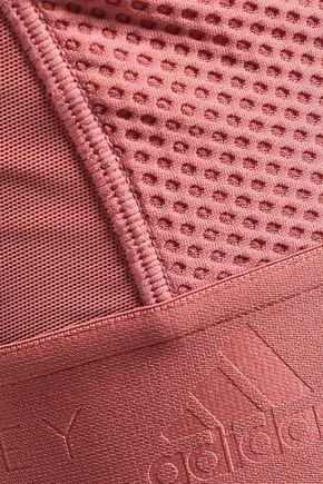 ADIDAS by STELLA McCARTNEY Cutout mesh and stretch sports bra