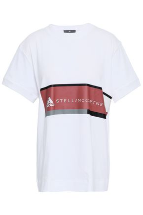 ADIDAS by STELLA McCARTNEY Printed cotton-jersey T-shirt