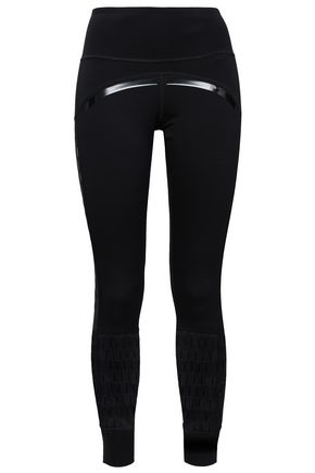 ADIDAS by STELLA McCARTNEY Mesh-trimmed stretch leggings