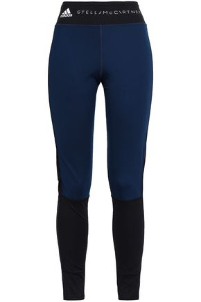 ADIDAS by STELLA McCARTNEY Two-tone stretch-knit leggings
