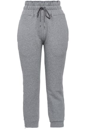 ADIDAS by STELLA McCARTNEY Cotton-blend fleece track pants