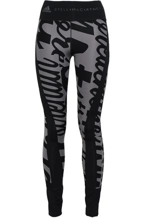 ADIDAS by STELLA McCARTNEY Printed tech-jersey leggings