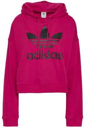 ADIDAS ORIGINALS Printed French cotton-blend terry hoodie