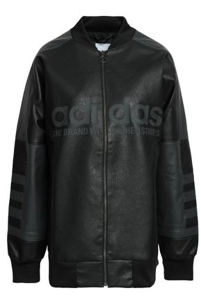 ADIDAS ORIGINALS Faux leather jacket