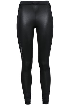 ADIDAS by STELLA McCARTNEY Paneled stretch-mesh and tech-jersey leggings