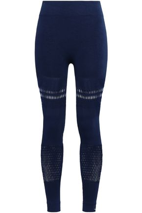 ADIDAS by STELLA McCARTNEY Laser-cut tech-jersey leggings