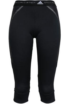 ADIDAS by STELLA McCARTNEY Mesh-trimmed tech-jersey leggings