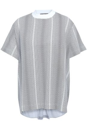 ADIDAS by STELLA McCARTNEY Snake-print mesh T-shirt