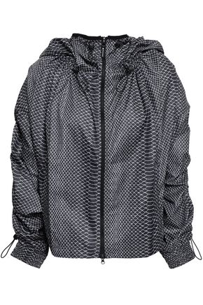 ADIDAS by STELLA McCARTNEY Ruched printed shell hooded jacket
