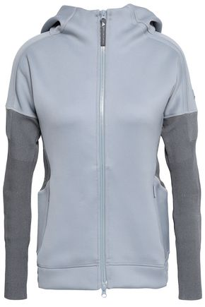 ADIDAS by STELLA McCARTNEY Paneled stretch and knitted hooded jacket