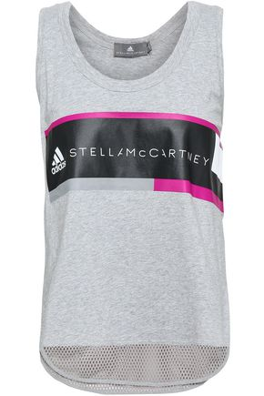 ADIDAS by STELLA McCARTNEY Printed cotton-jersey tank