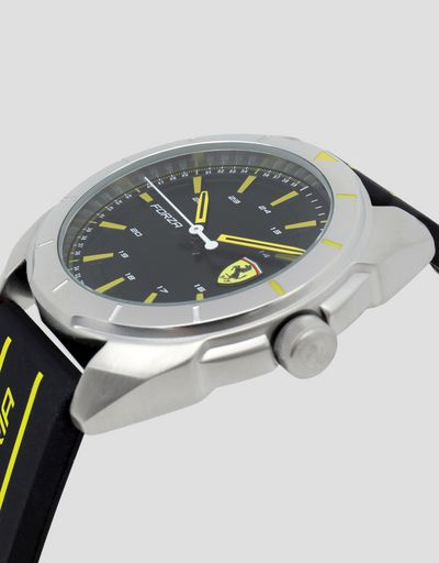 Forza watch with yellow details