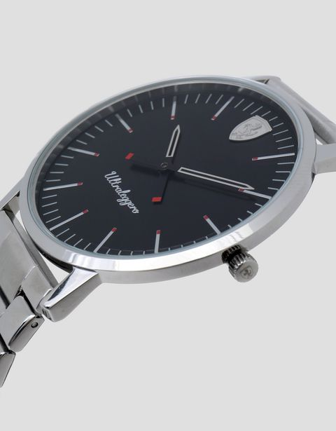 Ultraleggero watch with steel wrist strap