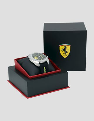 Scuderia Ferrari Online Store - Multifunctional Forza watch with yellow detailing - Quartz Multifunctional Watch