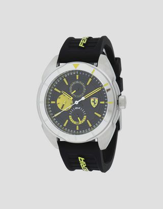 Scuderia Ferrari Online Store - Multifunction Forza watch with yellow details - Quartz Multifunctional Watch