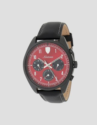 Scuderia Ferrari Online Store - Abetone multifunction watch with red dial - Quartz Multifunctional Watch