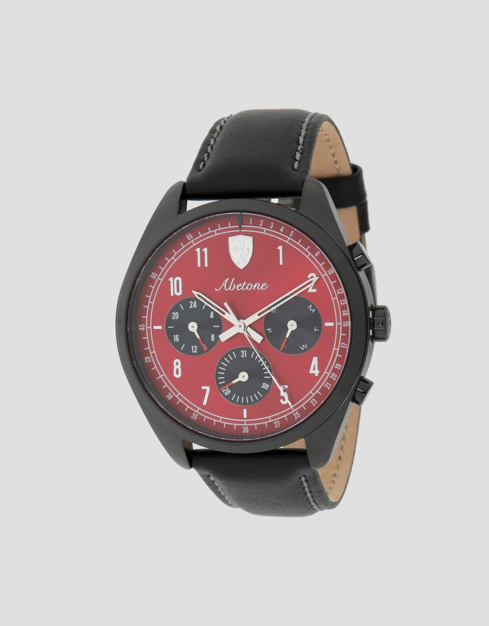 Scuderia Ferrari Online Store - Abetone multifunctional watch with red dial - Quartz Multifunctional Watch