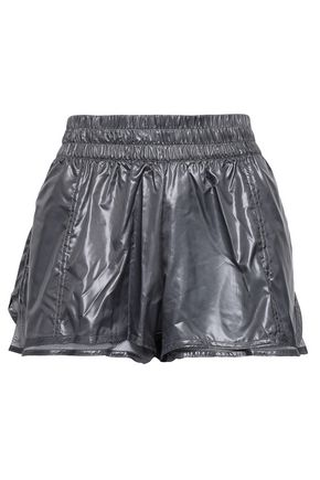 ADIDAS by STELLA McCARTNEY Layered metallic shell shorts
