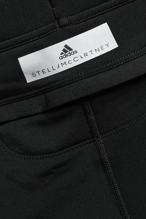 ADIDAS by STELLA McCARTNEY Coated snake effect-paneled stretch leggings