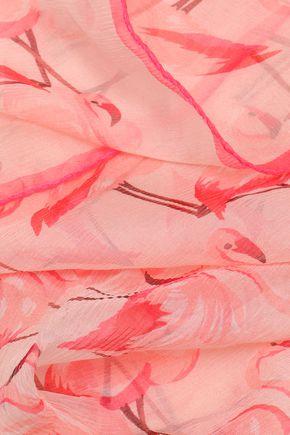REDValentino プリント シルク スカーフ