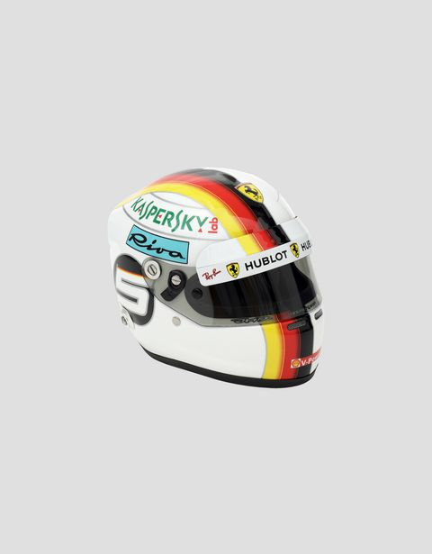 Mini casco 2018 Sebastian Vettel in scala 1:2