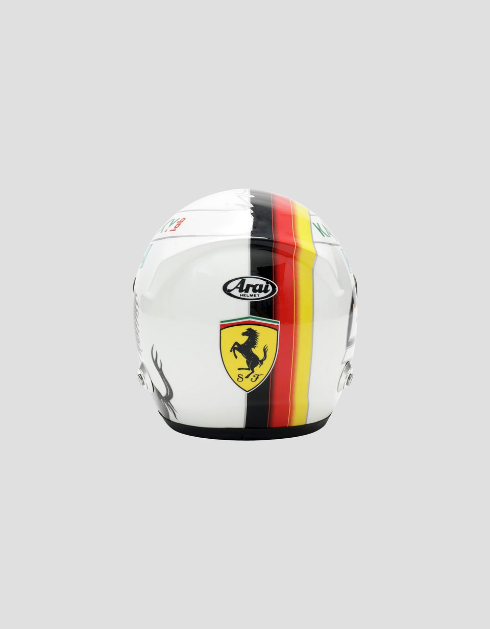 Scuderia Ferrari Online Store - Mini 2018 Sebastian Vettel helmet in 1:2 scale - F1 Replicas