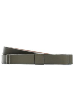 RED(V) Bow-embellished leather belt