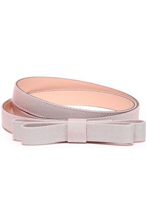 RED(V) Bow-embellished grosgrain belt