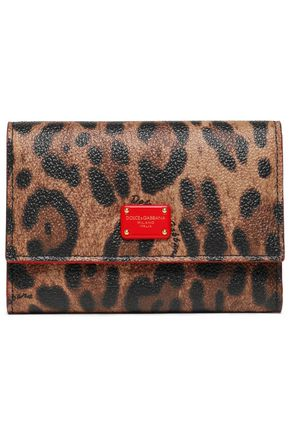 DOLCE & GABBANA Textured faux leather wallet