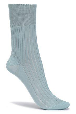 RED(V) Ribbed silk socks