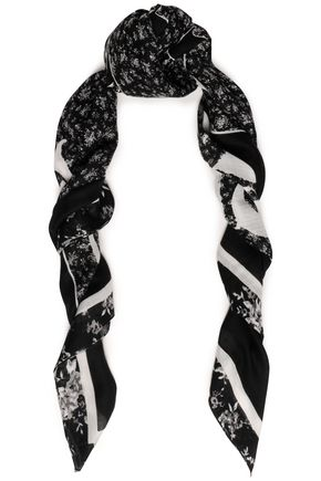 McQ Alexander McQueen Printed cotton and modal-blend scarf