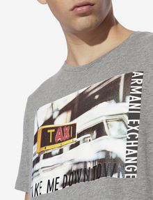 ARMANI EXCHANGE REGULAR-FIT TAXI LOGO CREW Graphic T-shirt [*** pickupInStoreShippingNotGuaranteed_info ***] b