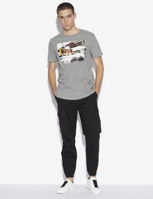 ARMANI EXCHANGE REGULAR-FIT TAXI LOGO CREW Graphic T-shirt [*** pickupInStoreShippingNotGuaranteed_info ***] d
