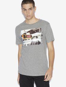 ARMANI EXCHANGE REGULAR-FIT TAXI LOGO CREW Graphic T-shirt [*** pickupInStoreShippingNotGuaranteed_info ***] f