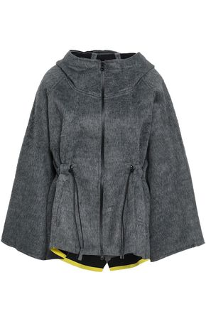 SÀPOPA Gathered fleece hooded jacket