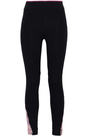 SÀPOPA Lace-trimmed stretch leggings