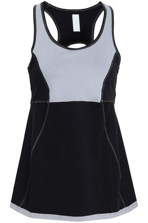 SÀPOPA Cutout two-tone stretch tank